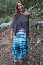 Long Summer Dress - Gray | Turquoise | Navy