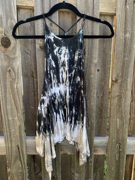 Indie Tank Top Tie Dye - Dark Blue | Tan
