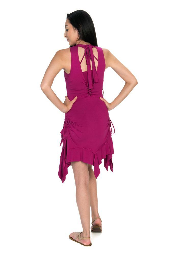 Gypsy Tank Dress - Fuchsia