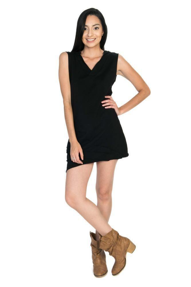 Lined Angle Dress - Black