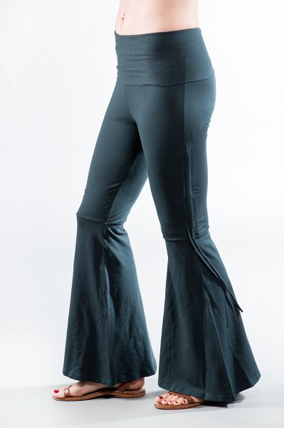 Basic Flair Pants with Tie - Teal