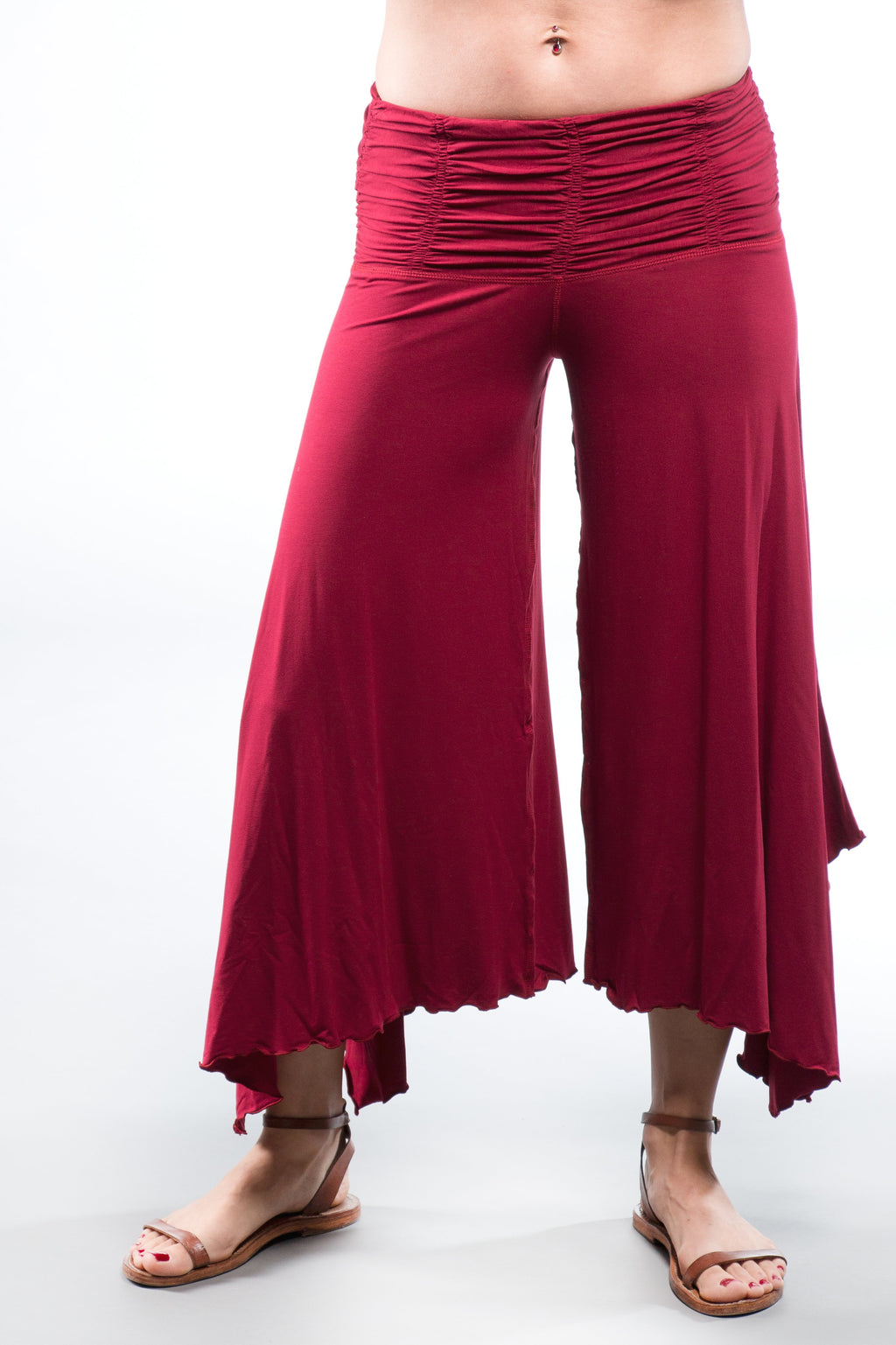 Wide Leg Dance Pants - Dark Red - Filosophy
