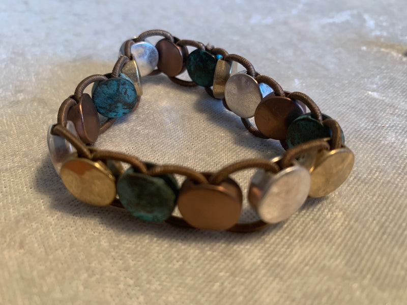 Patina Woven Circle Bracelet - Filosophy