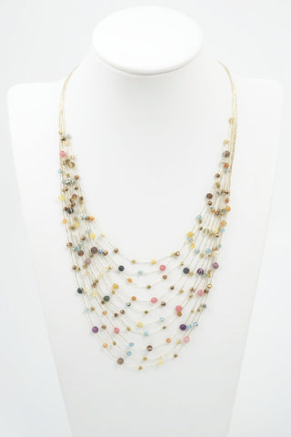 Sundance Mulit Colored Stone Necklace