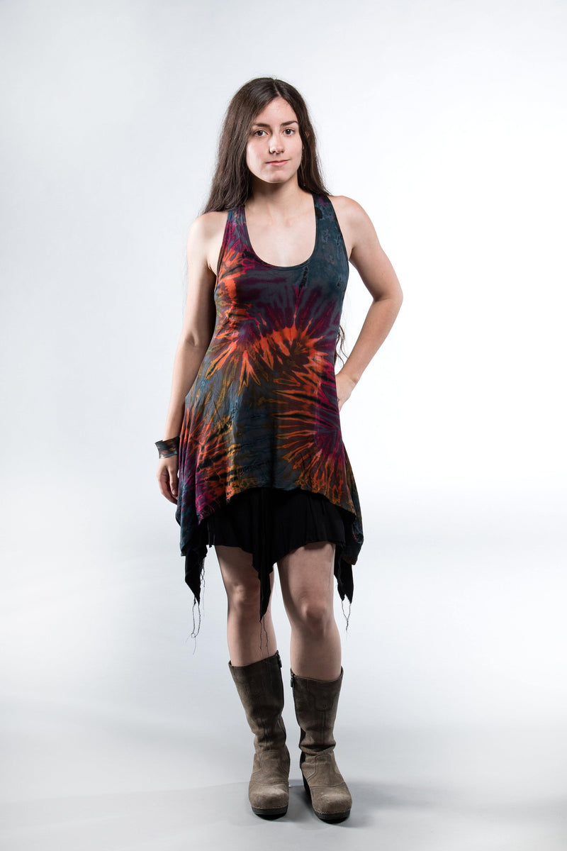 Tie Dye Cut Back Top - Gray Tie Dye - Filosophy