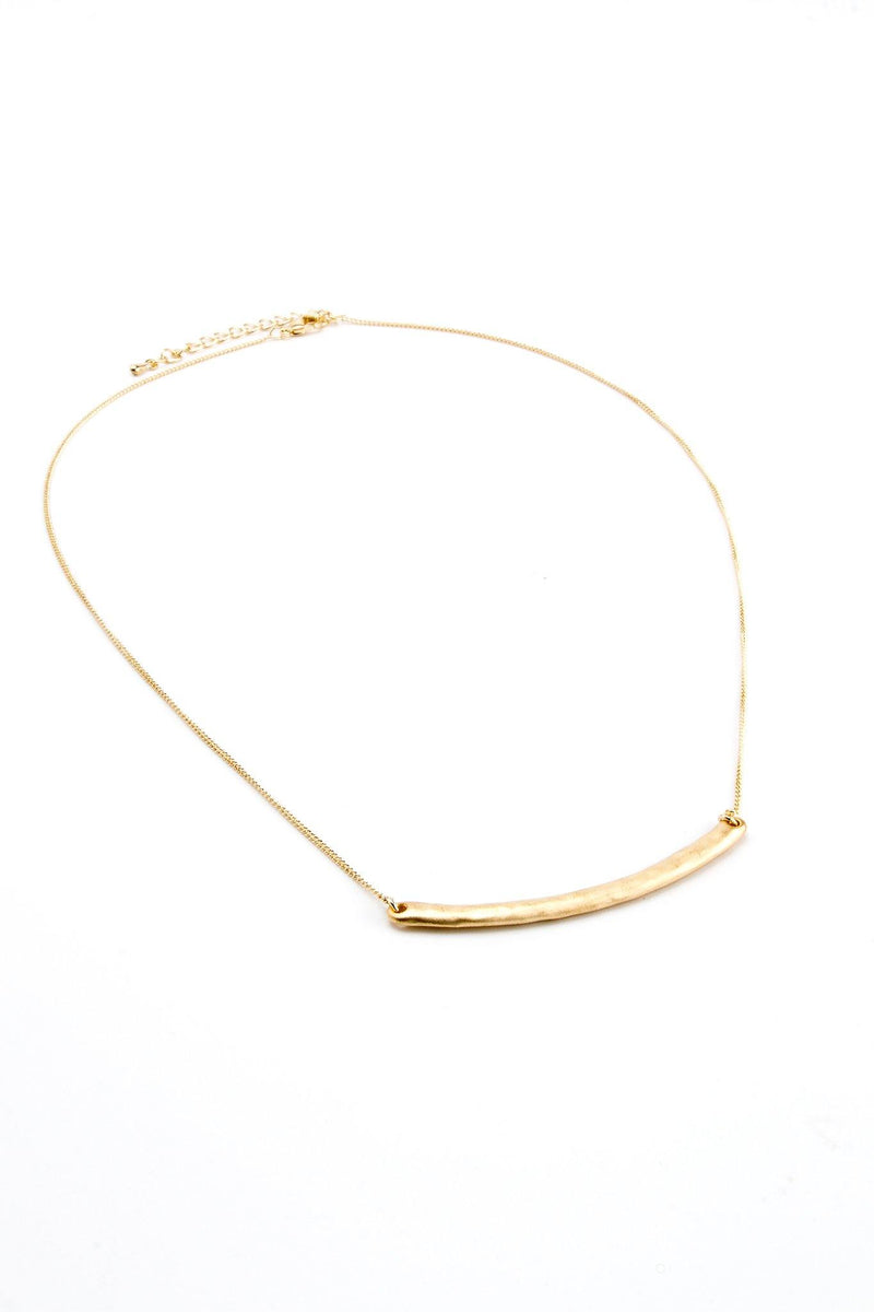 Curved Bar Necklace -  Gold - Filosophy
