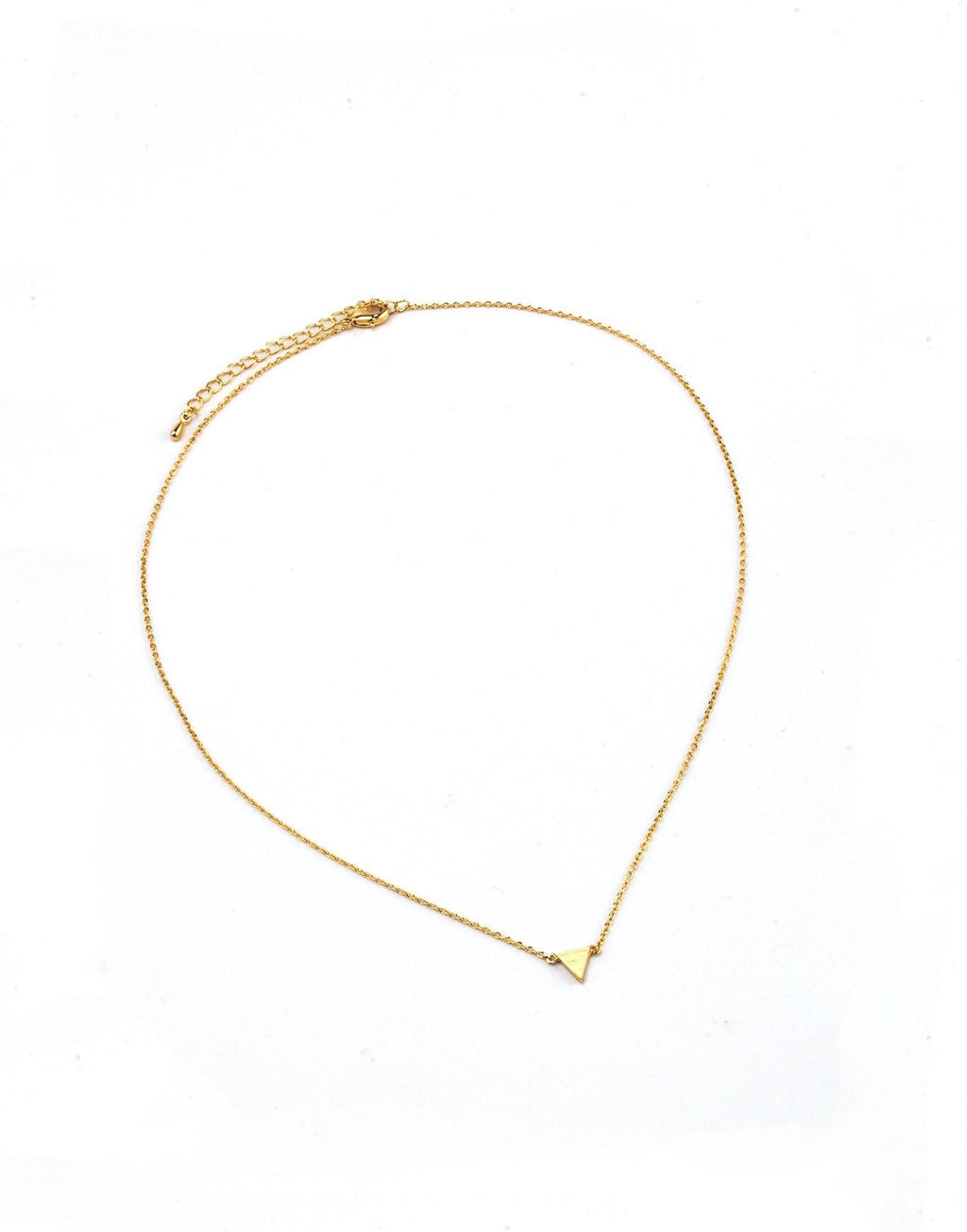 Single Triangle Necklace - Gold - Filosophy