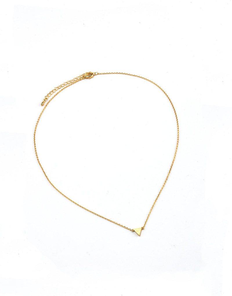 Single Triangle Necklace - Gold