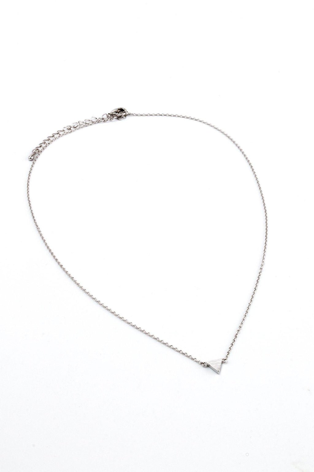 Single Triangle Necklace - Silver - Filosophy