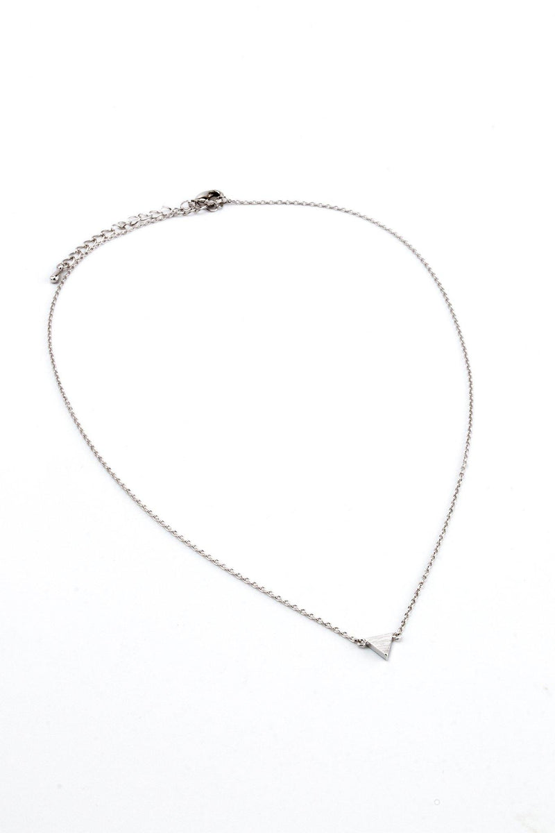 Single Triangle Necklace - Silver