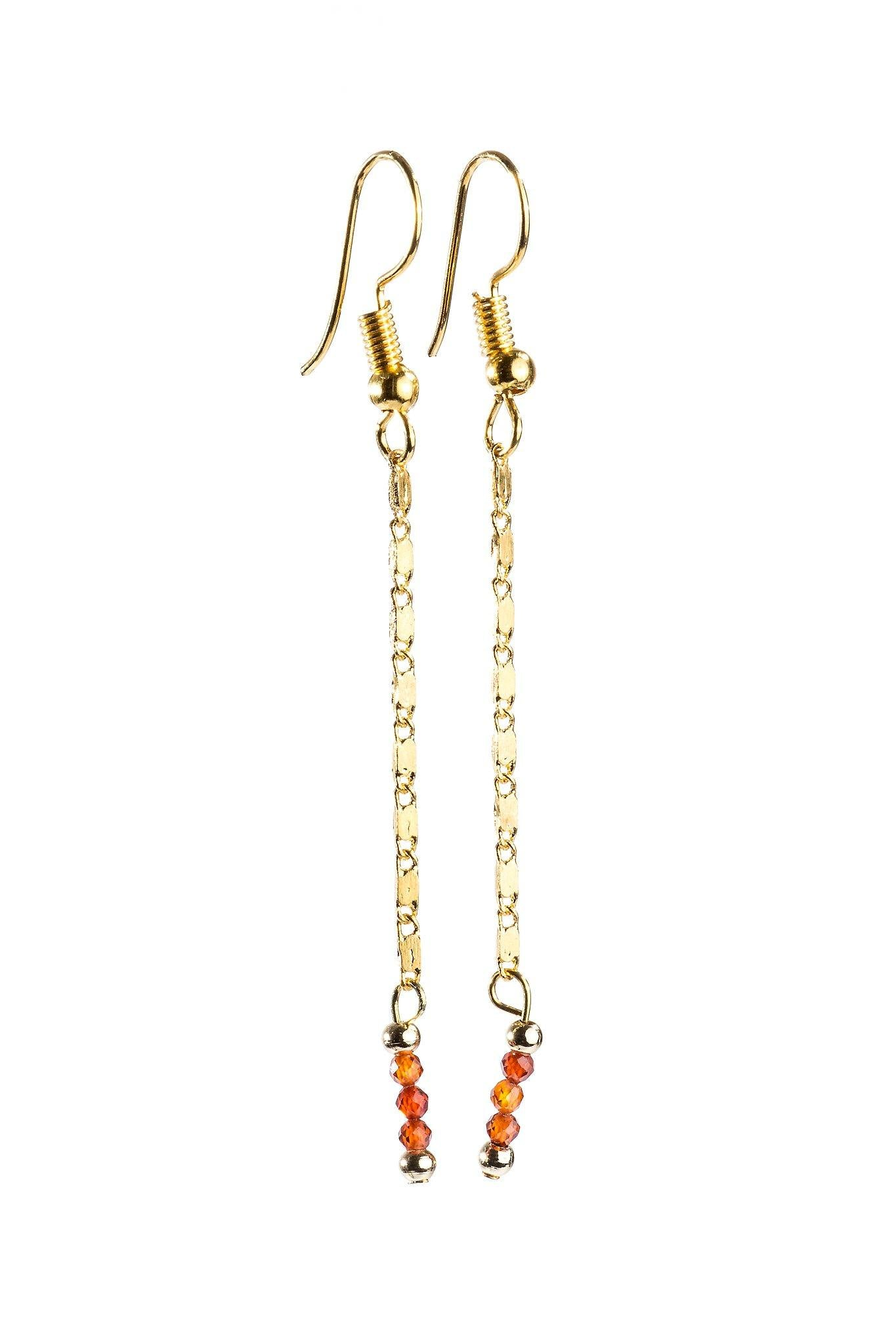Capri in Gold | Fire Agate - Filosophy