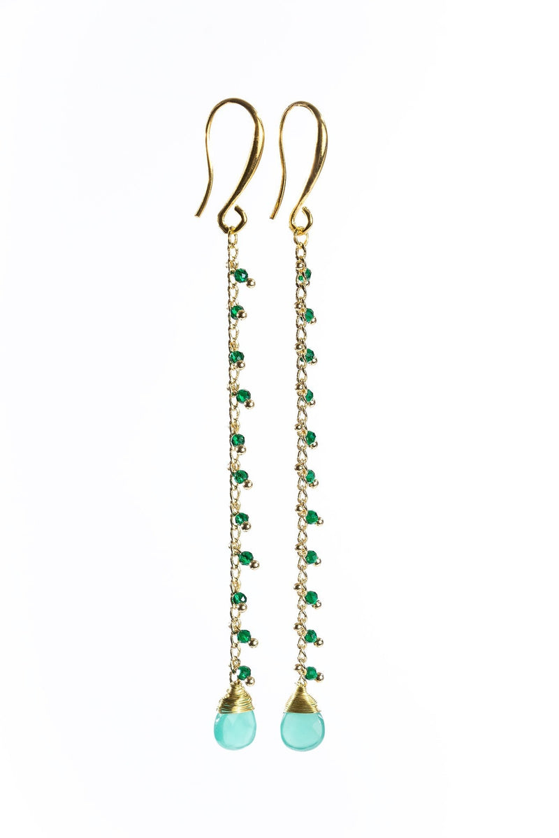 Aria Earrings - Aventurine | Amazonite | Green Onyx