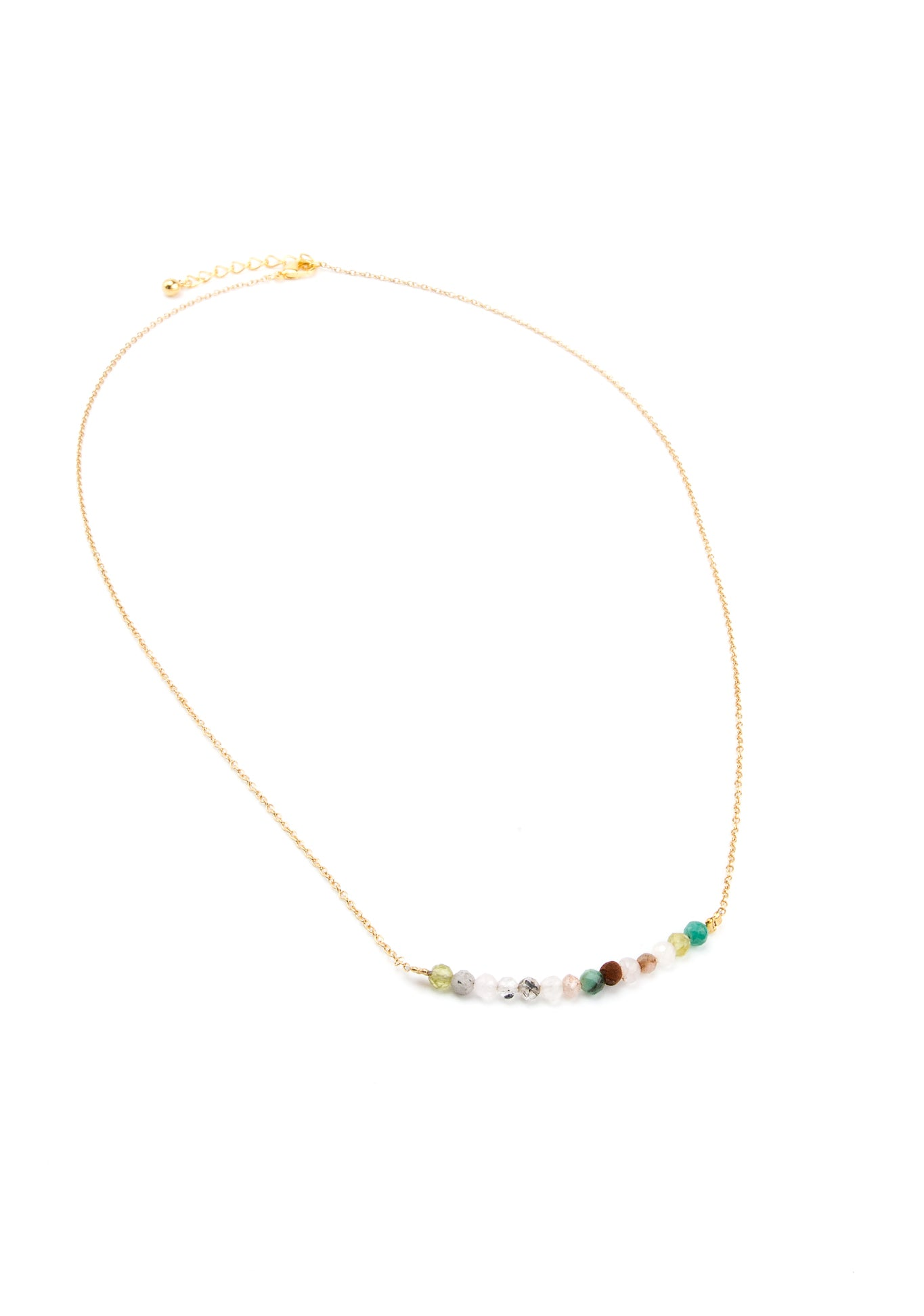 White Agate Bar Necklace in Gold - Filosophy