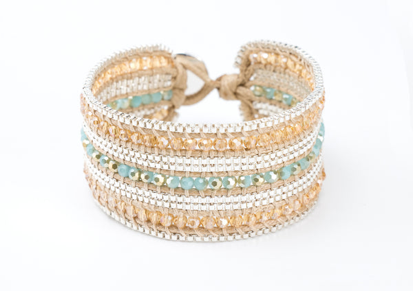 Valerie Bracelet - Blue & Cream - Filosophy