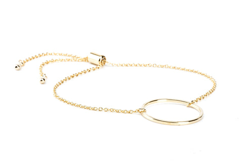 Circle Bracelet - Small - Gold
