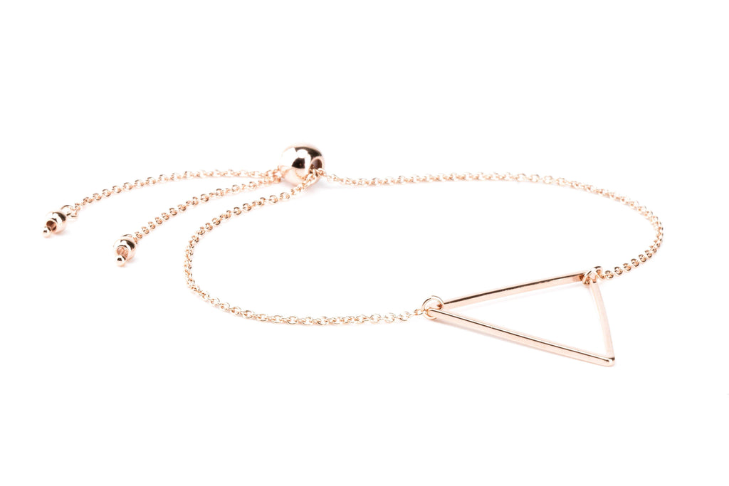 Triangle Bracelet - Rose Gold - Filosophy
