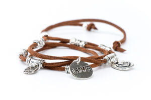 Leather Love Charm Bracelet - Filosophy