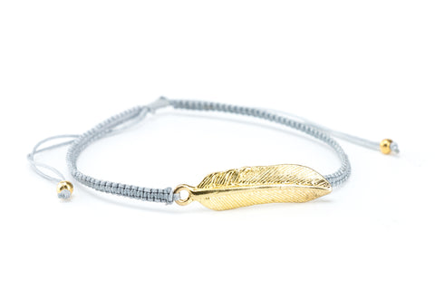 Golden Feather Slide Bracelet - Filosophy
