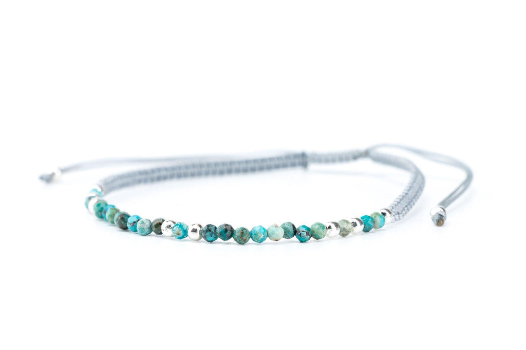 This is a minimalist but beautiful handmade bracelet, using macrame technique with beaded gemstones, that comes in a huge variety of colors. You can stack them together or use them solely if you prefer to keep it discrete.