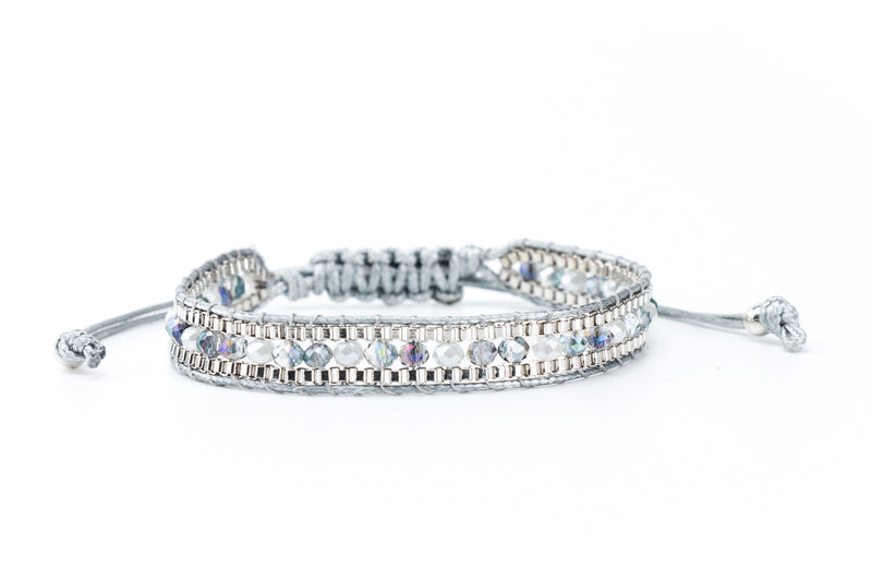 Single Wrap Bracelet Gray | Silver - Filosophy