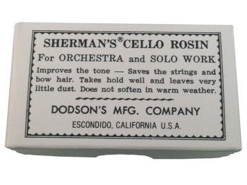 Sherman cello rosin