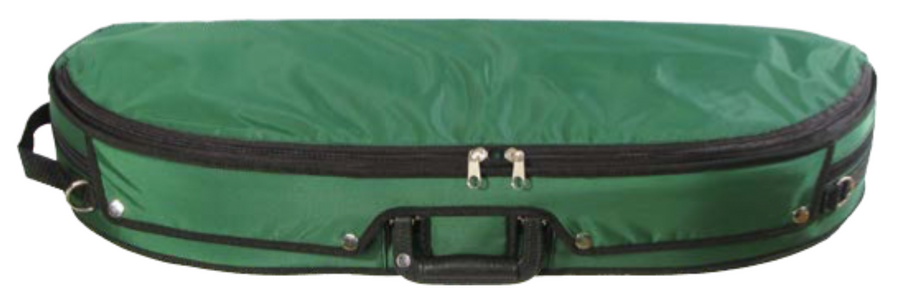Bobelock 1047 Wooden Puffy Half-Moon Suspension Violin Case Green
