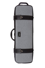 BAM Grey flannel hightech oblong violin case