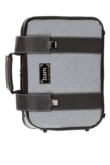 BAM grey flannel hightech double clarinet case