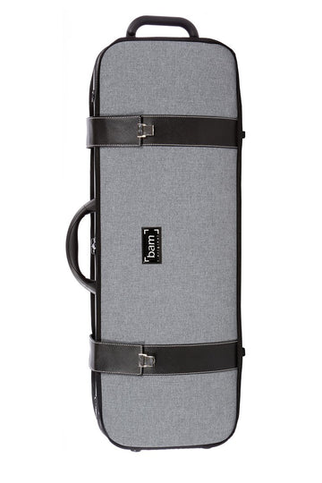 BAM grey flannel hightech oblong viola case