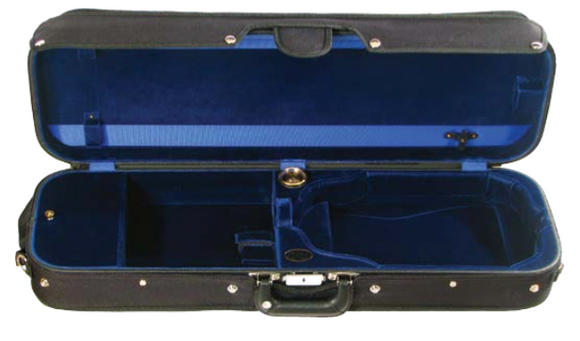 Bobelock Wooden Oblong Violin Case w/Suspension (B1002VS)