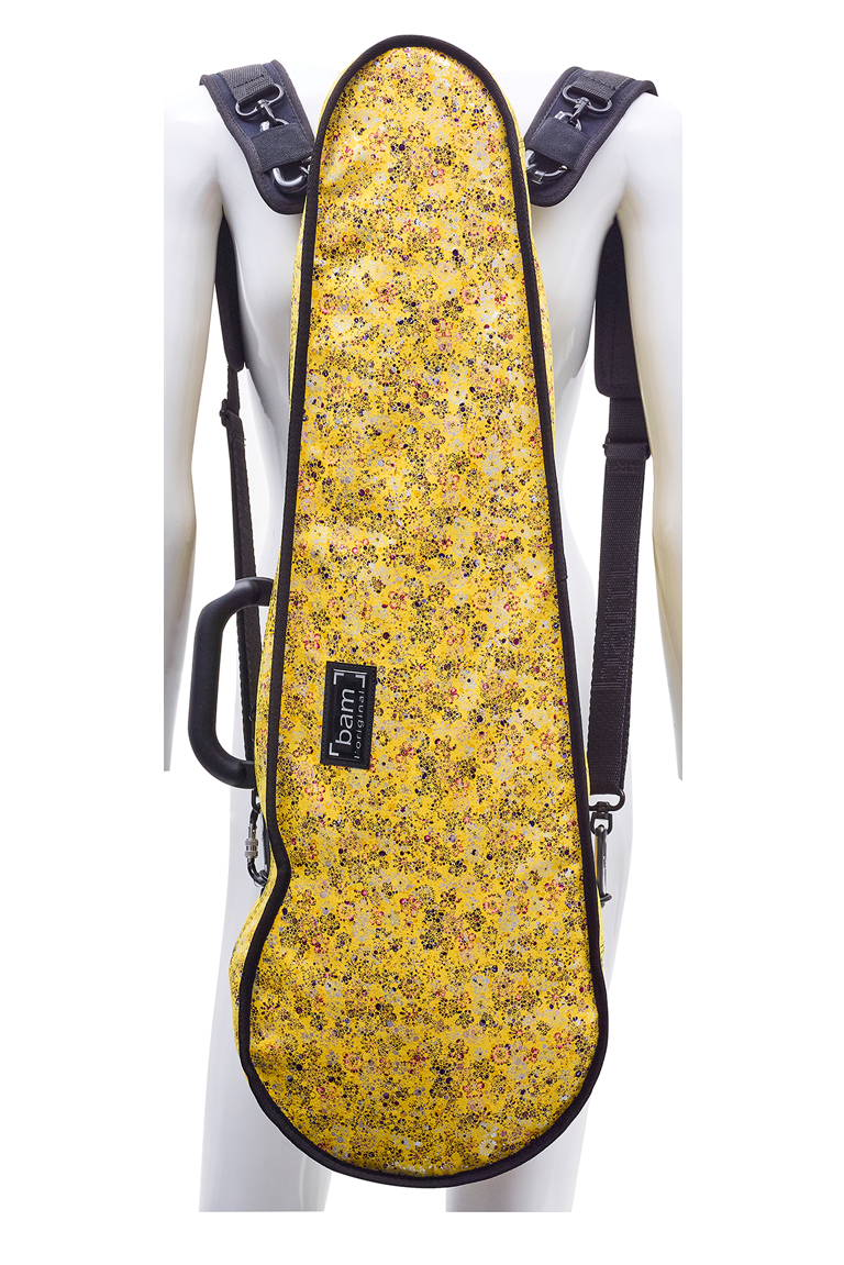 BAM hoody for hightech contoured violin case (flowers)