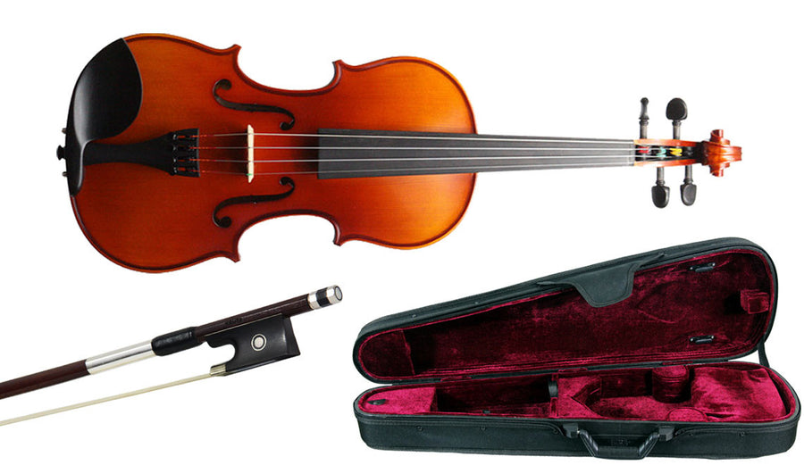 Krutz 200 Violin Outfit with Oblong Case and Pernambuco Bow