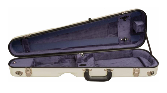 Howard Core Fiberglass Arrow Suspension Violin Case (B1027FBLS)