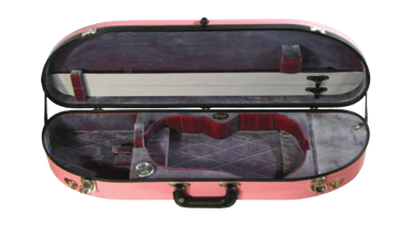 Howard Core Fiberglass Half-Moon Suspension Violin Case (B1047FBVS)