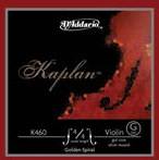 D'Addario Golden Spiral D Aluminum wound on gut Violin String
