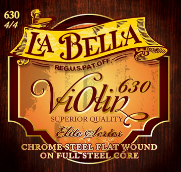 La Bella Violin D Chrome Steel flatwound String
