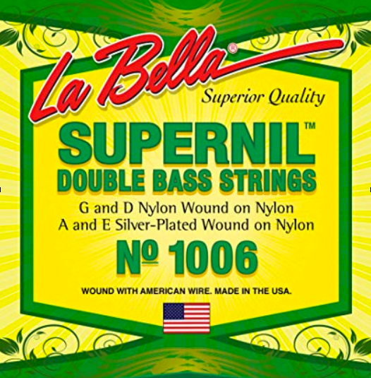 La Bella Supernil Bass Nylon Wound on Nylon G String