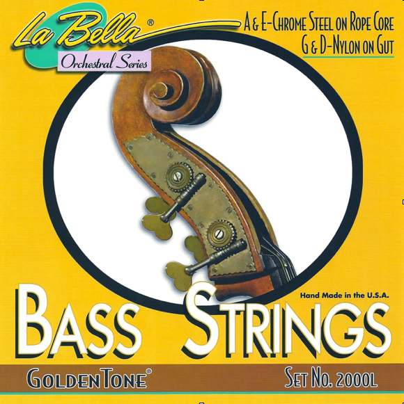La Bella Goldentone Bass D String