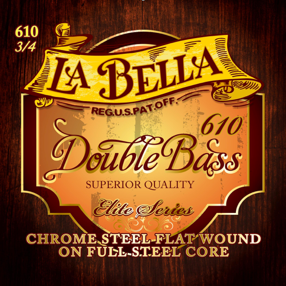 La Bella Elite Series Bass Full Steel Core Strings Set