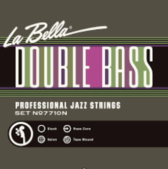 La Bella Professional Jazz Black Nylon Tape Wound Ropecore String Set