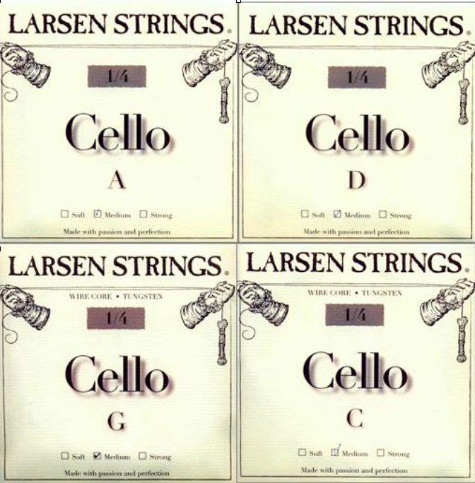 Larsen Cello Fractional A, stainless steel String