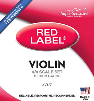Red Label Violin E** Nickel flatwound - 4/4 medium only String