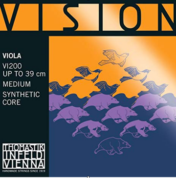 Vision D Synthetic core, silver wound Violin String