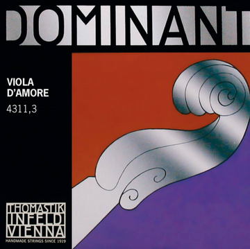 Viola d'Amore Dominant Perlon Core A Chrome wound string