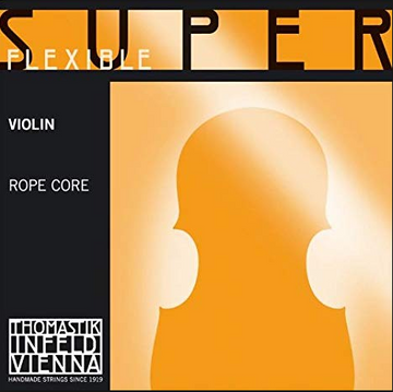Ropecore Octave Violin E Steelcore, Chrome wound string