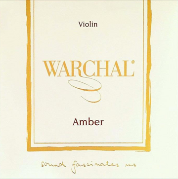 Warchal Amber violin string set with loop end E
