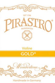 Pirastro Gold Label Violin E Steel Ball Violin Strings (GOL315121-BULK)