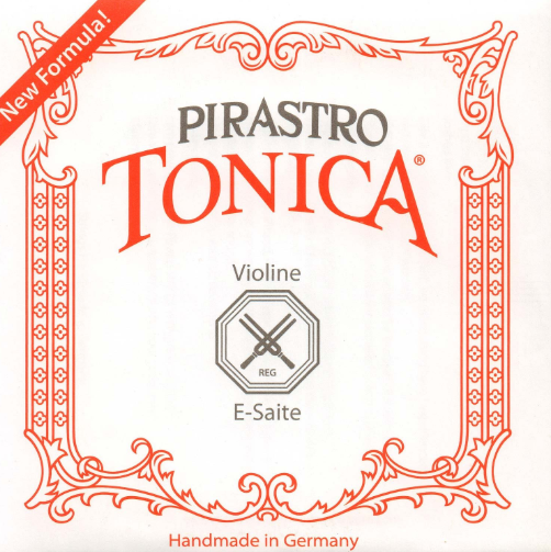 Pirastro Tonica Violin E Ball Silvery Steel Violin Strings (TON312721-BULK)