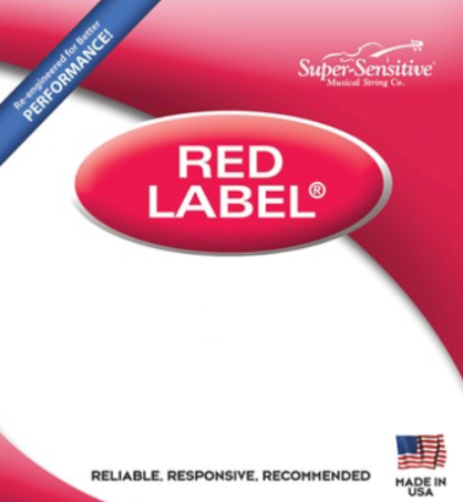Red Label A Nickel Cello Strings (RED611-BULK)