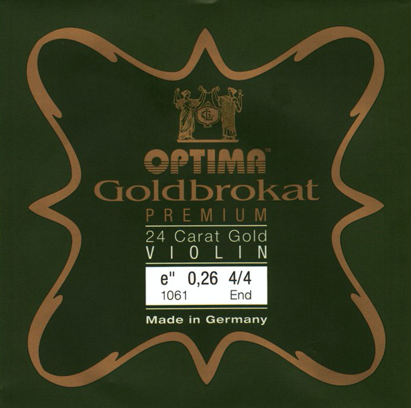 Optima Goldbrokat Brassed Premium Violin E1 0.26 Ball End string